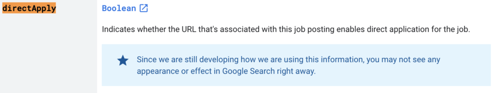 Google Direct Apply