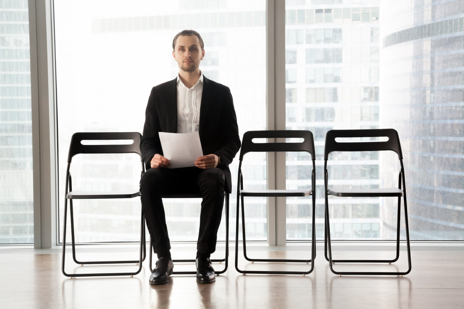 Candidate Waiting For Job Interview